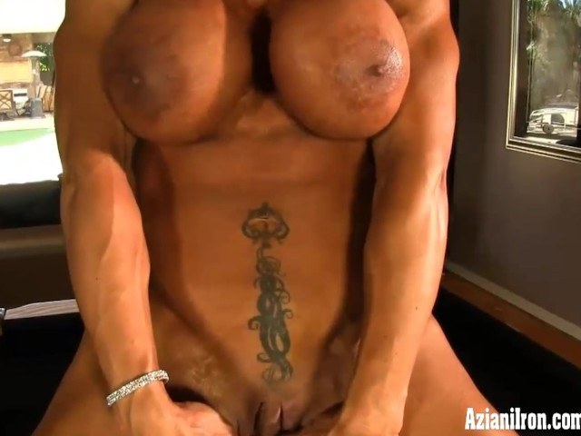 The most female bodybuilder clit piggy dick