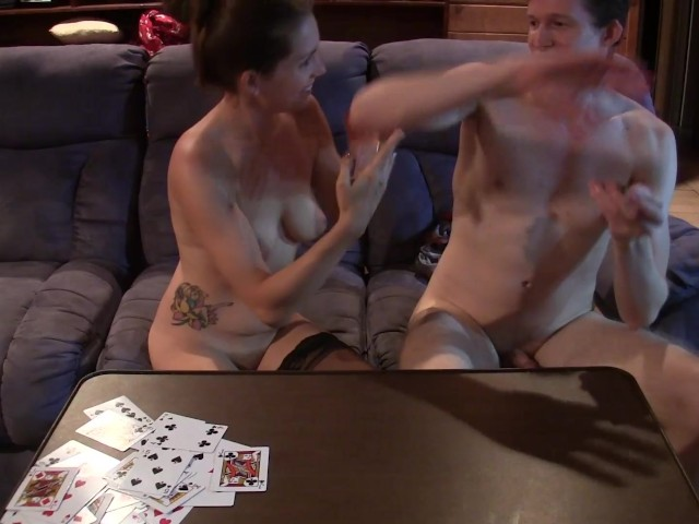 Couple Playing Strip Cards Turns to Sucking and Fucking
