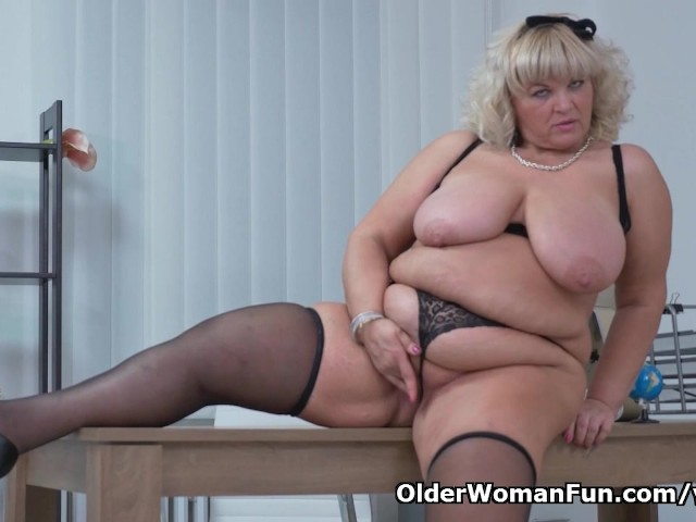 Bbw milf renatte will brighten up your day in the office 5