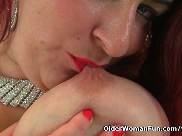 English milf sexy scorpio pleases her fuckable pussy - 1 part 4