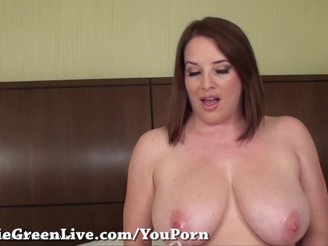 All natural maggie green shakes her big tits 7