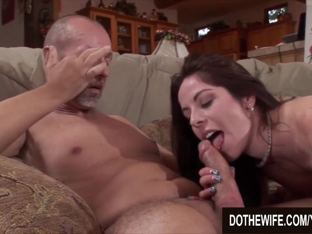 Husband watches wife take huge cock