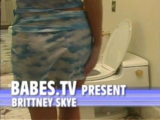 Brittney Skye - Masturbation on Bidet