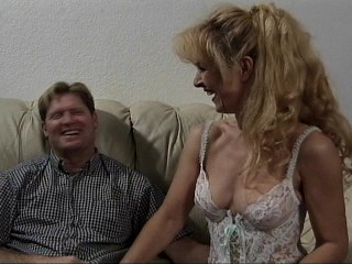 HOT blonde MILF loves the cock!