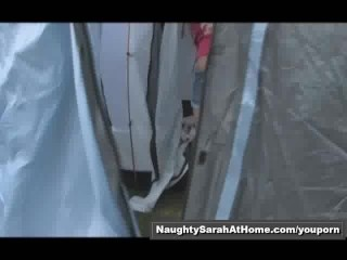 Lesbians fuck in camping tent part1of4