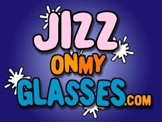 Cum on Glasses Brooke Scott blowjob and facial