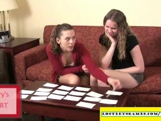 Amateur girls playing strip memory