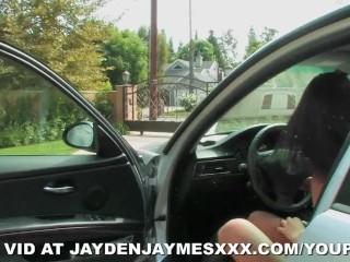 Jayden Jaymes Crashes a Set