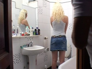 Blonde transvestite Rubia fucks Marco - Latin-Hot