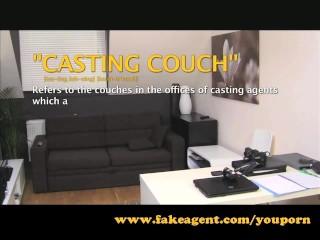 FakeAgent Amateur anal creampie casting