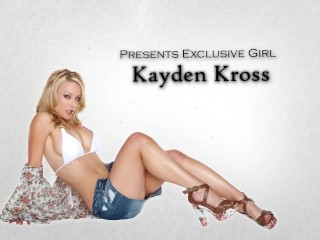 Stunning blond babe Kayden Kross sucks & fucks big-dick to orgasm