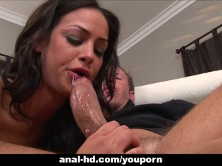 Half Asian slut Angelina Valentine hardcore fucking!