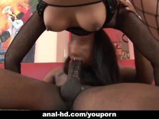 Asian Annie Cruz fucked by big black dick
