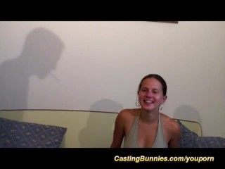 young busty anal casting