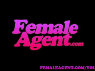 FemaleAgent Gentle giant makes female agent weak at the knees