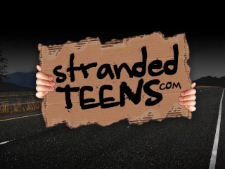 Stranded Teens - Cute redhead stranded teen gets a lift and some dick