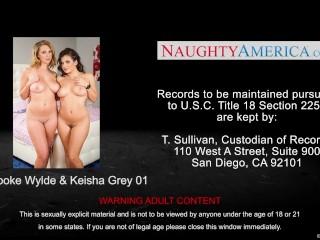Bisexual Brooke Wylde and Keisha Grey fucking a lucky stud