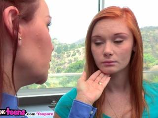 Moms Bang Teens - Mom teaches ginger stepdaughter