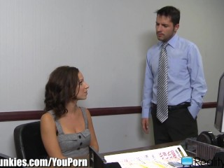 RealityJunkies Jada Stevens Bannged on Desk