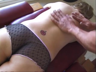 Massage gets into her deep tissue