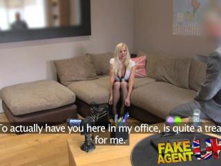 FakeAgentUK Busty British porn model in casting