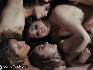 Girlsway Riley Reid s Intense Lesbian Orgy