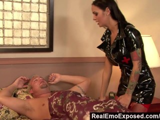 RealEmoExposed - Angelina wakes bf with wild sex fantasy