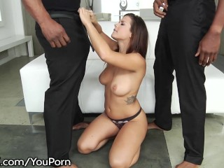 DarkX Keisha Grey Takes 2 Huge Black Cocks
