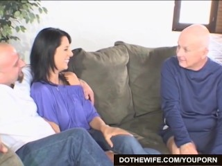 Hot wife fucks a pornstud