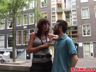Black amsterdam hooker gets doggystyled