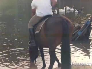 Private.com - Horse Rider Yasmin Scott Rides a Hung Stallion