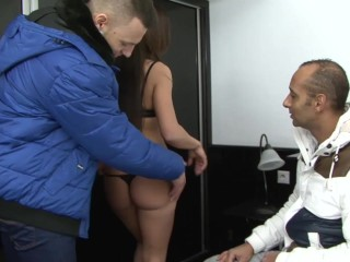 My wife gets fucked by black man she sucks his dick gets pussy fucked