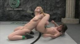 Naked girls catfighting - winner...