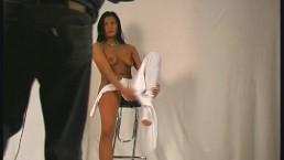 Flexible Cisara posing naked...