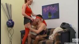 Feminization and strapon sex...