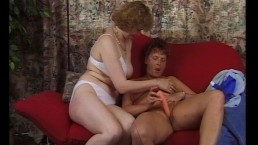 Two gals play with...