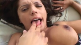 Brunette anal in fishnet...