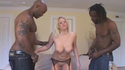 Blonde Wife Engulfs Two...