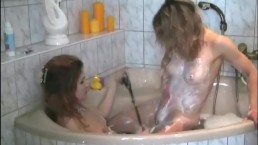 Bisexual babes tease in...