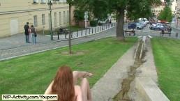 Hot redhead denisa naked...