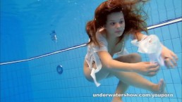 Cute Zuzanna is swimming...