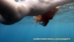 Nude swimming in the...