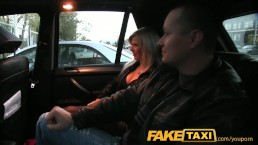 FakeTaxi Husband watches wife...