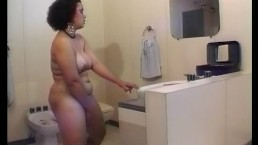 Chubby busty chick getting...