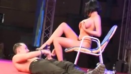 Sexy fetish show in...