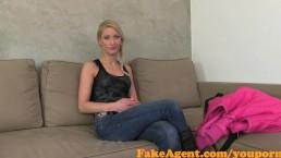 FakeAgent Hot blonde amateur...