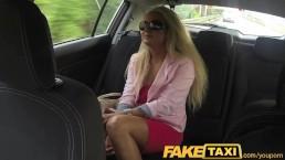 FakeTaxi Blonde MILF with...
