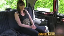 FakeTaxi Brunette stunner gets...