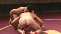 Sweaty Muscled Wrestling Hunks...