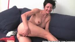 Older women soaking their...